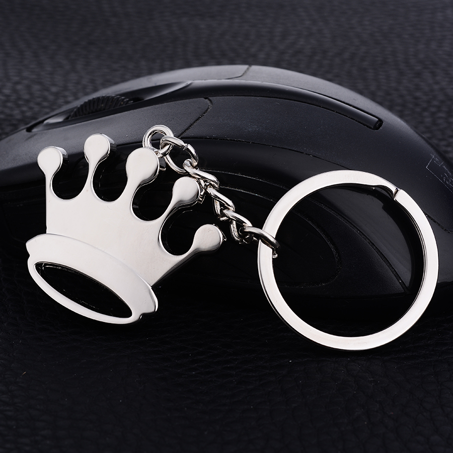 Novelty Items Fashion Casual Crystal Crown Styling Keychain Charms Car Key Chain Ring Holder Creative Pendant Keyfobs Gift J021