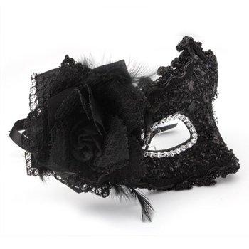 Maschera Fiore Nero Halloween Party Carnevale Costume NUOVO
