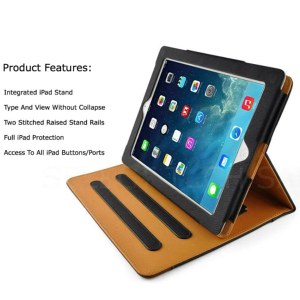 Fashion Soft Leather Smart Case Cover Sleep/Wake Stand For Apple i Pad Pro 9.7 2017/Air 2/Mini 2 3 4 Fashion Useful