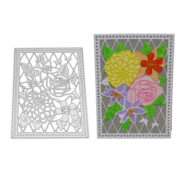 aliexpress com buy metal rose flower frame cutting dies for