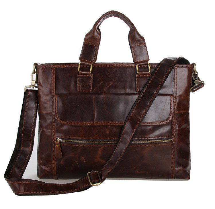JMD Retro Fashion 100 Real Leather Hand bags For Men Briefcases Shoulder Bags 7212C
