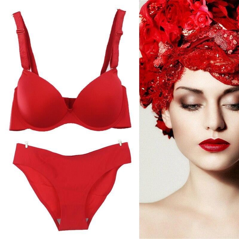 3accb8543 75A 75B 80A 80B 85A 85B 90A 90B Rouge Sexy Femmes mode Soutien Gorge Sans  Couture Sous Vêtements Nouvelles Femmes Filles Sans Soudure Soutien Gorge  Ensemble ...