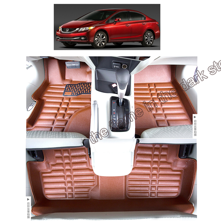 fast shipping leather car floor mat carpet rug for honda civic 2011 2012 2013 2014 2015 9th generation partol black car roof rack cross bars roof luggage carrier cargo boxes bike rack 45kg 100lbs for honda pilot 2013 2014 2015