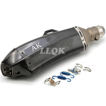 carbon fiber exhaust pipe  Akrapovic motorcycle exhaust pipe muffler For SUZUKI GSXR      GSXR600 GSXR1000