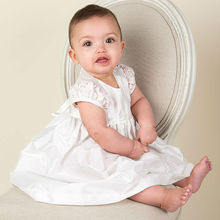 Simple Baptism Baby Clothing Dress Ankle Length Satin Lace Infant Girls A-line Christening Gowns 0-24 Month with Bonnet  2017