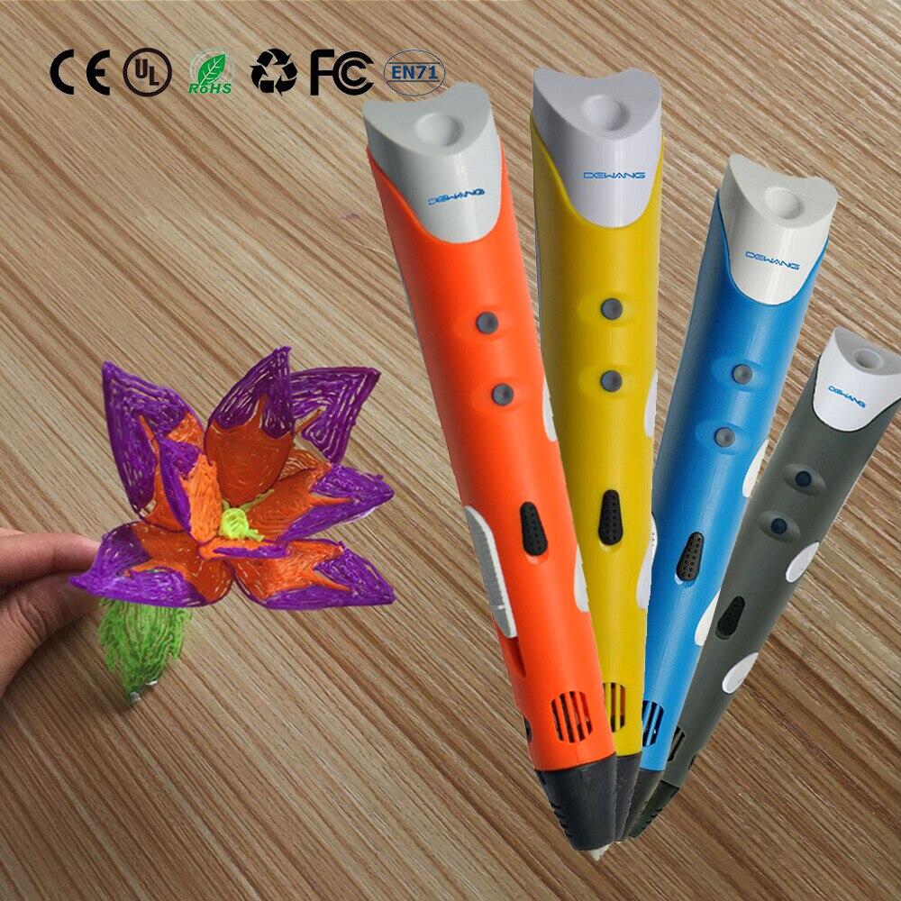 DEWANG Patented 3D Printing Pen Magical Drawing Pen +Free 100 Meters Filament Kids Birthday Gifts 3D Printer Pen