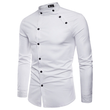 Men s Shirts 2018 Summer New Arrival palace Style Casual Long sleeve Solid Male Business Double