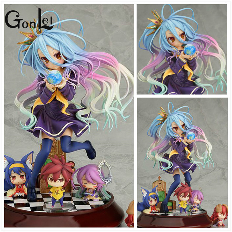 Lovely cartoon movie Action Figure Furnishing articles anime No Game No Life 2 hand toy doll kids Holiday gift collection ZB-G72 6 piece 10 14cm super mario action figure evade glue fair young car furnishing articles model holiday gifts ornament box packed
