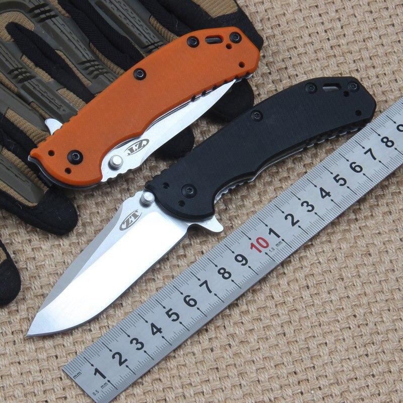 Hot  ZT0566 flipper D2 blade folding font b knife b font G10 handle ball bearing