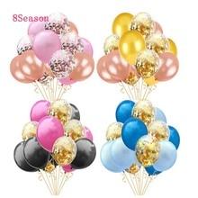 8Season Colorful balloons Babyshower boy Confetti Mariage latex Balloon Baby Girl Birthday Party Wedding Decorations Table