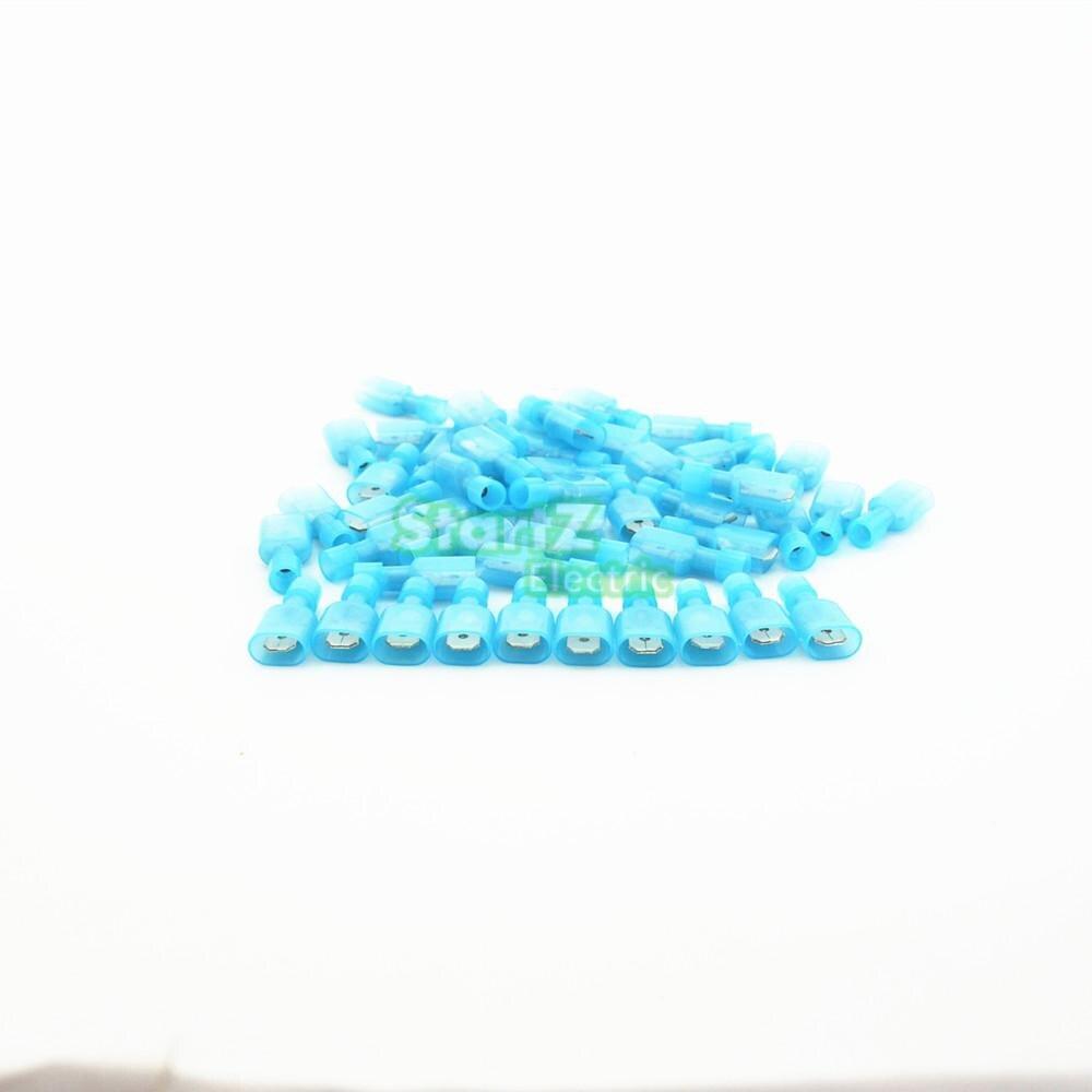 100 шт. синий быстрого сращивания провода женский Spade разъем 2,5-4,0 мм 16-14AWG Scotch Lock разъемы