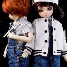 bjd accessories Original AS 1/6 bjd boy girl cute Denim overalls BaseBall Uniform top quality doll as clothing leisure suit