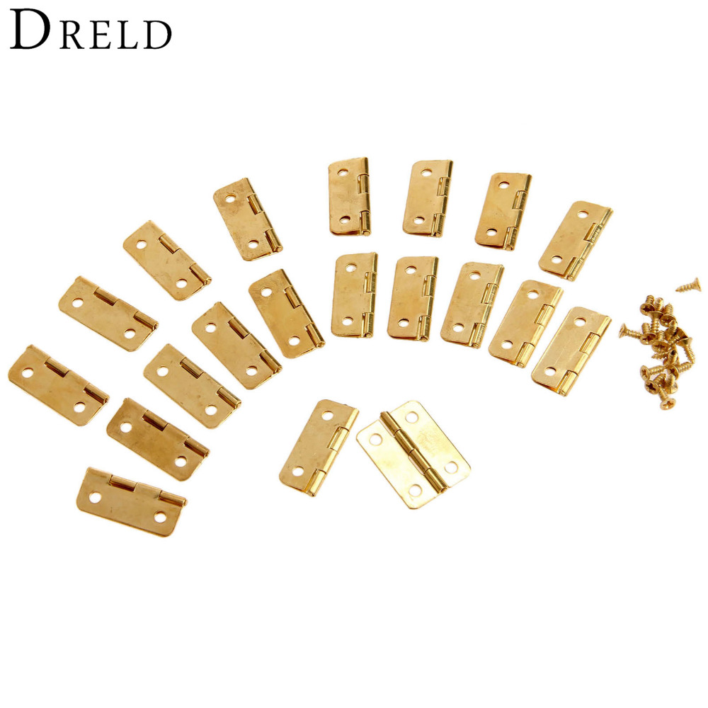 20Pcs 24x18mm Kitchen Cabinet Door Hinges for Caskets Furniture Accessories Drawer Hinges for Jewelry Boxes Furniture Fittings 2pcs set stainless steel 90 degree self closing cabinet closet door hinges home roomfurniture hardware accessories supply