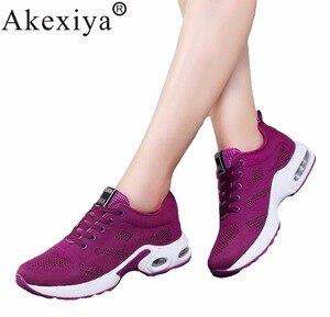 Image 2 - Akexiya جديد الشتاء والربيع احذية الجري للرجال/النساء حجم 35 40 أحذية رياضية امرأة أحذية رياضية