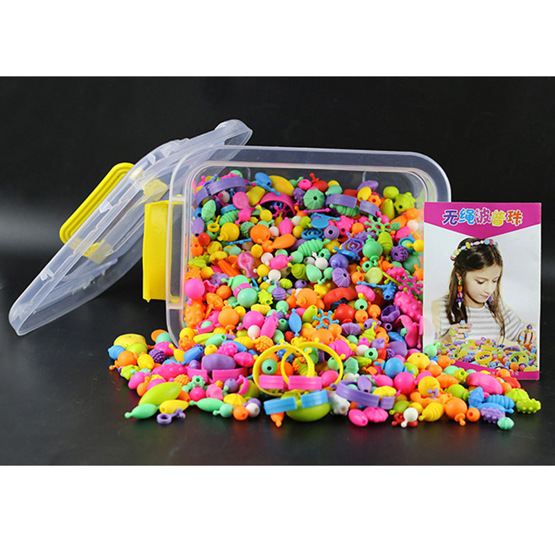 New 1005x Beads Cordless Beads String DIY Handmade Plastic Beads Educational Gift Toys