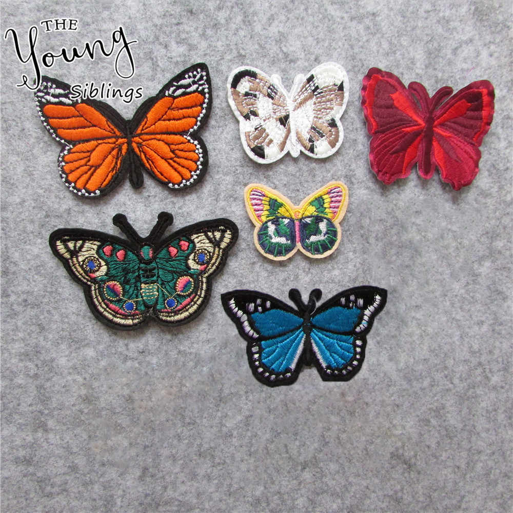 butterfly Patches For Clothing Iron On Embroidered Appliques DIY Apparel Accessories Patches For Clothing Fabric Badges