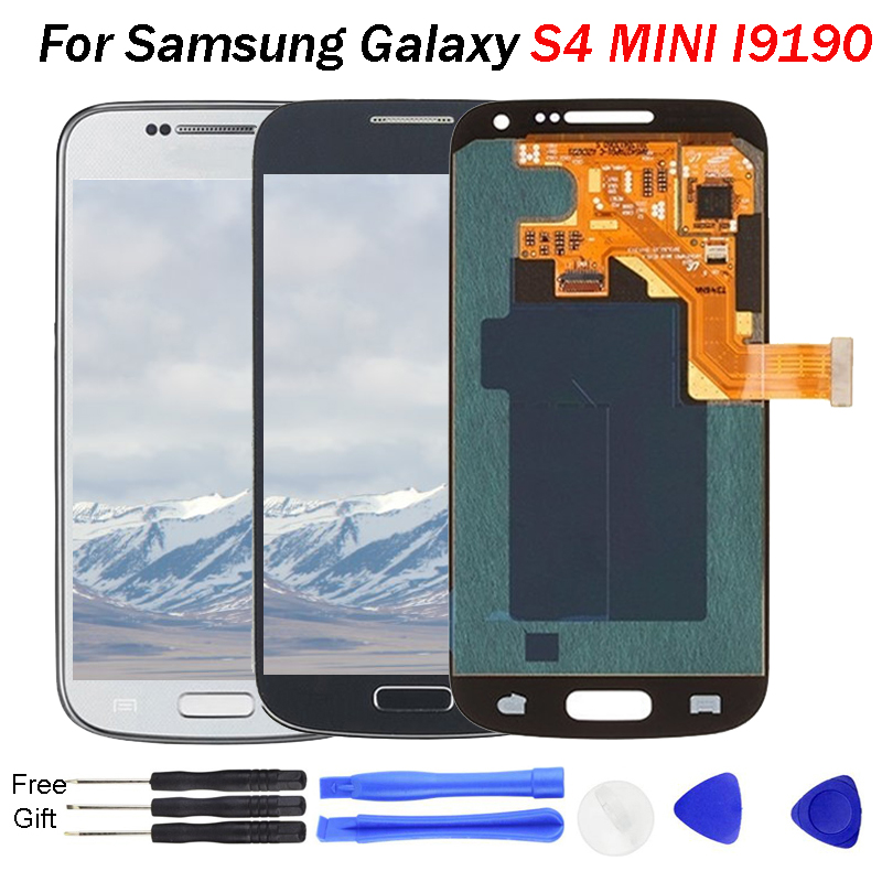 S4 Mini LCD AMOLED For Samsung Galaxy S4 Mini I9190 I9192 I9195 Mobile LCD Display Touch Screen Digitizer Sensor Replacement image