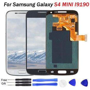 9d0ccccc06d S4 Mini LCD AMOLED LCDs para Samsung Galaxy S4 Mini I9190 I9192 I9195  teléfono pantalla LCD digitalizador de pantalla táctil de Sensor reemplazo