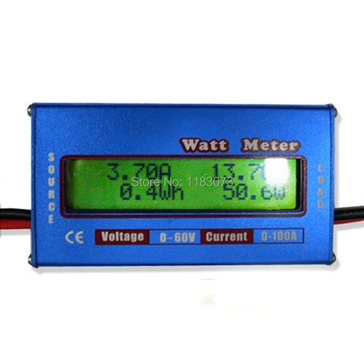 Digital LCD 60V//100A DC Watt Power Volt Amp RC Battery Analyzer Power Amp Meter