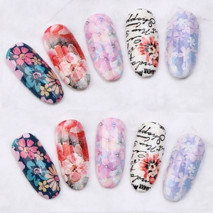 Image 5 - Elessical 1 Pcs 100*4cm Fashion Nail Art Foil Transfer Stickers Nail Decal Design Flower Decoration Nails holographic Wraps tool