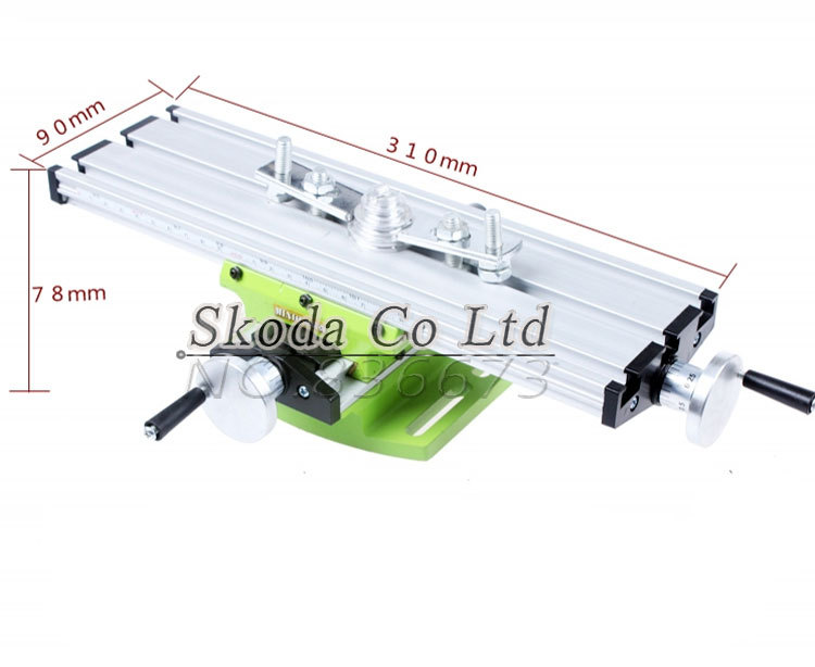 New type Miniature precision multifunction Milling Machine Bench drill Vise worktable X Y-axis adjustment Coordinate table alsgs alb 310 200rpm 450in lb110v 220v horizontal power feed auto power table feed for milling machine x y z axis
