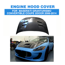 Carbon Fiber Engine Hood Cover Auto machine Cap For Maserati GranTurismo Convertible Coupe 2Door 2006-2014