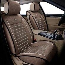 Tampas de assento do carro universal linho para toyota corolla camry rav4 auris prius yalis avensis suv acessórios do carro varas assentos do carro