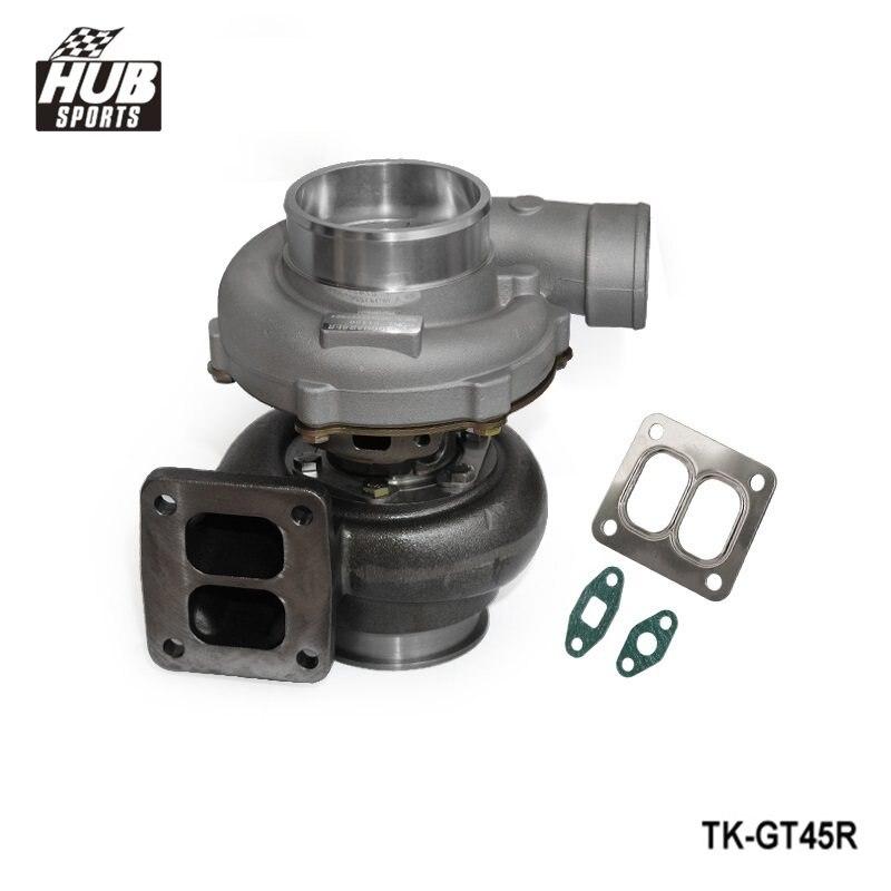 Turbocompresseur GT45R A/R. 70 A/R 1.00 T4 v-band Turbo HU-GT45R refroidi à l'huile