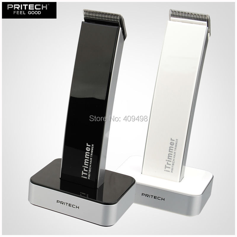 ФОТО PRITECH PR-1288 black white electric rechargeable hair trimmer