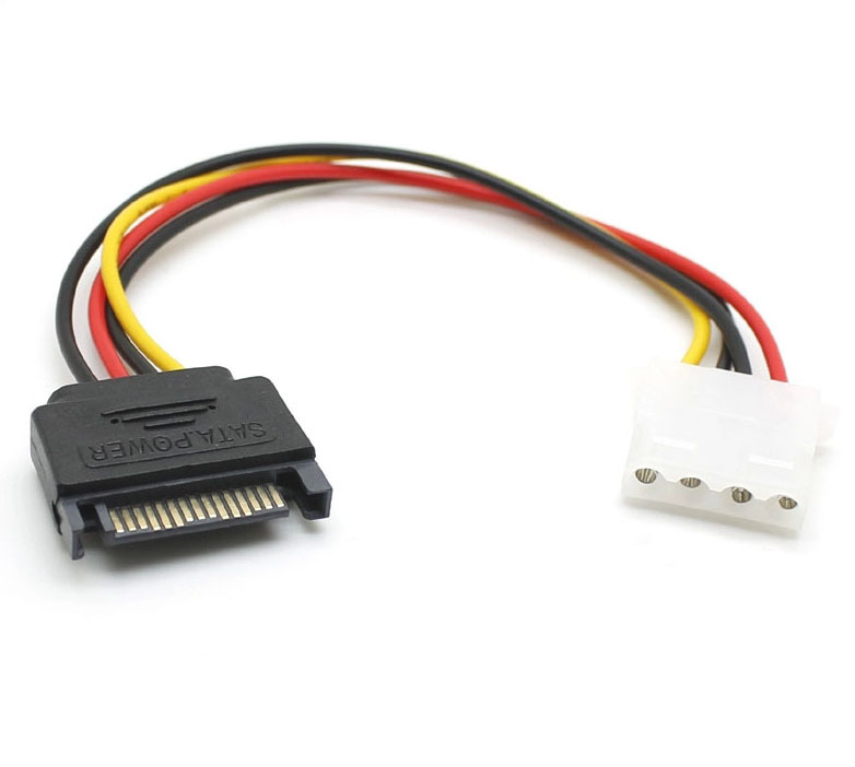 0.2M 15p SATA to 4p IDE Molex Adapter Converter Power Cable Cord for IDE Hard Drive and CD-ROM