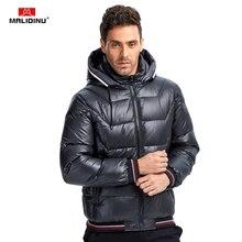 цены на MALIDINU 2019 Men Light Down Jacket Winter Jacket Down Coat Parka 70%White Duck Down Thicken Hooded Jacket Brand Free Shipping  в интернет-магазинах