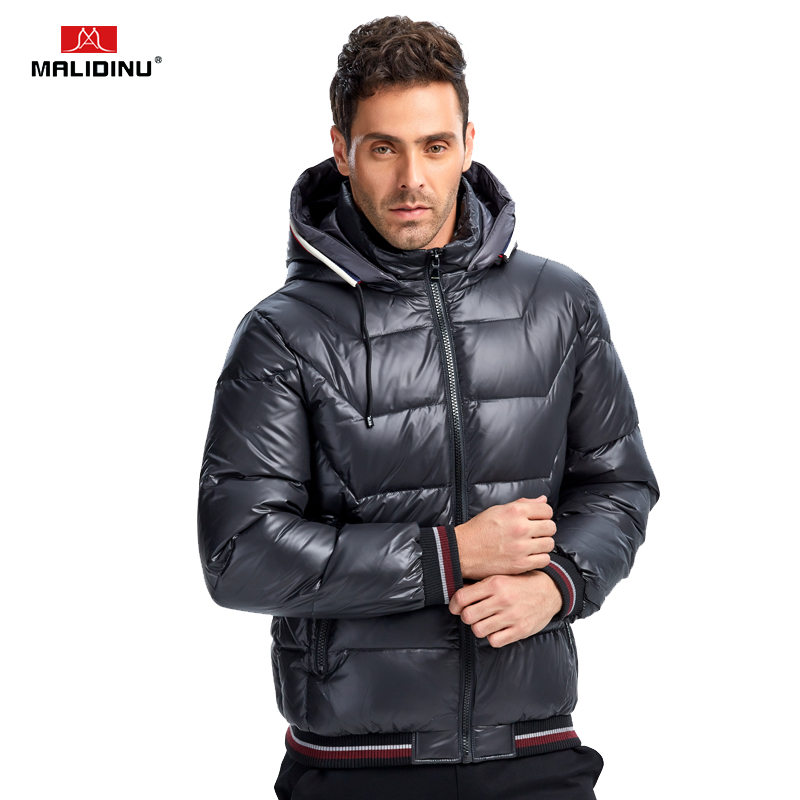 MALIDINU 2019 Men Light   Down   Jacket Winter Jacket   Down     Coat   Parka 70%White Duck   Down   Thicken Hooded Jacket Brand Free Shipping