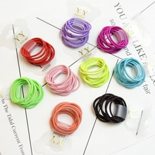 Colorful10 Pcs 3 Cm Hair Children Girl Boby TPU Rubber Bands Ponytail Holder Elastic Hair Band Girls Scrunchie Hair Accessories 10 pcs elastic hair rubber bands rope scrunchie ponytail holder accessories hair band freeshipping