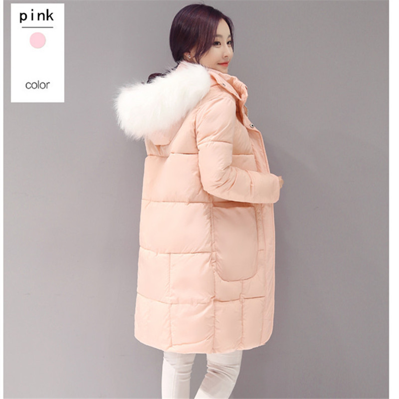 2016 women coats winter cotton full sleeve warm fashion button thick sown pockets casual coats