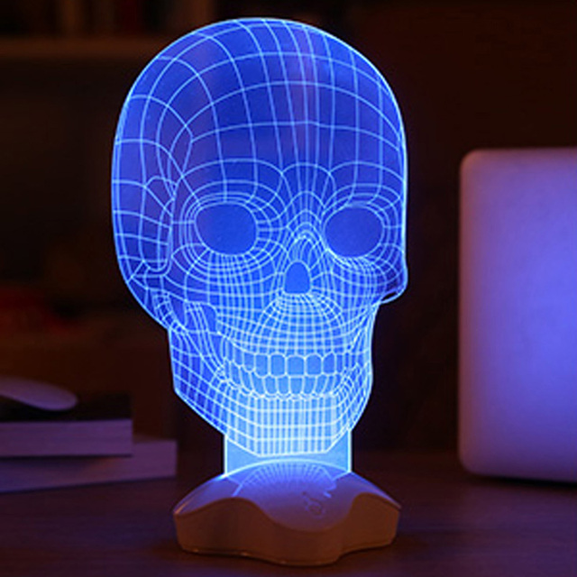 USB Controlled Multiple 3D Style Lamp Lighting Mood Lamp Bulbing Light Skull FULI