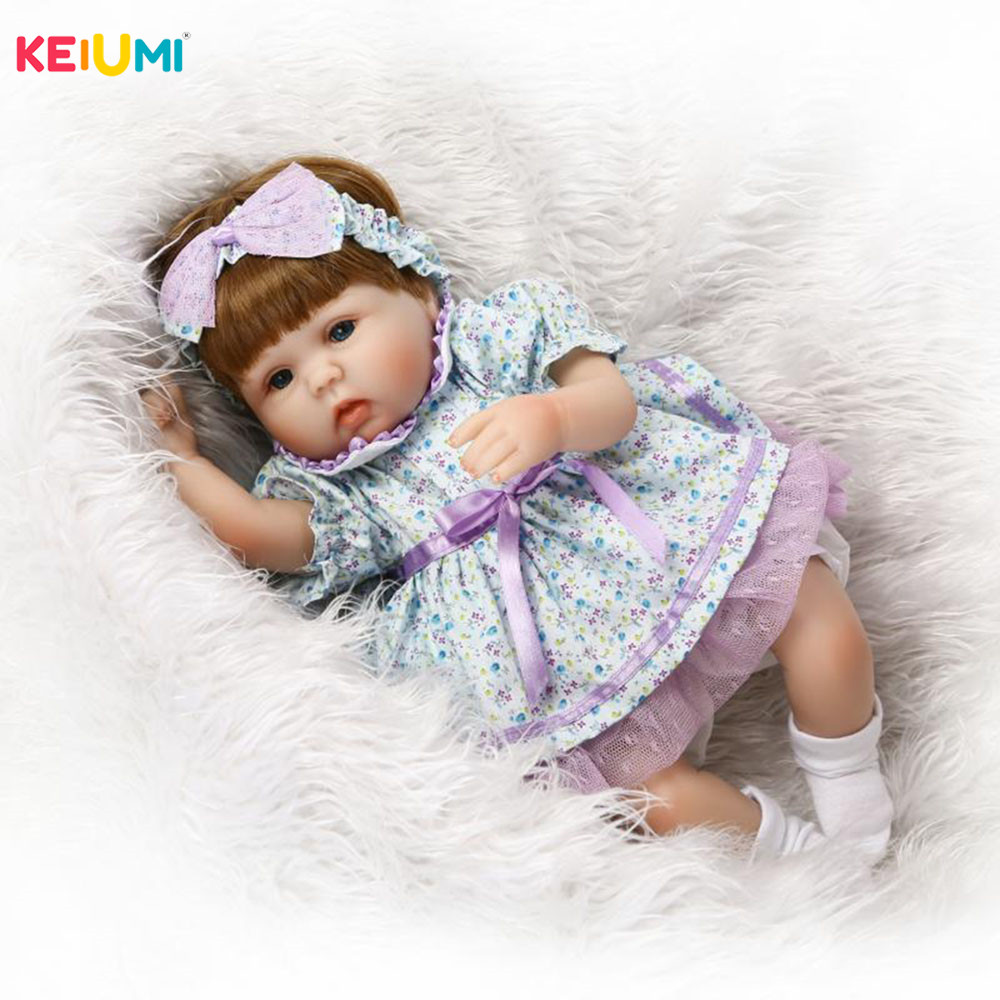 Fashion 43 cm Reborn Baby Doll Handmade 17 Newborn Dolls Fashion Girls Toys For Cute Children Playmates Birthday GiftsFashion 43 cm Reborn Baby Doll Handmade 17 Newborn Dolls Fashion Girls Toys For Cute Children Playmates Birthday Gifts