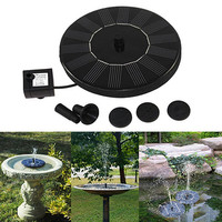 New Trendy Mini Solar Power Water Floating Fountain Pump Pool Garden Outdoor Decoration