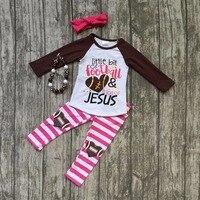 Fall Suit Baby Girls Ruffles Boutique Stripe Children Pants Long Sleeves Little Bit Of Football Lot