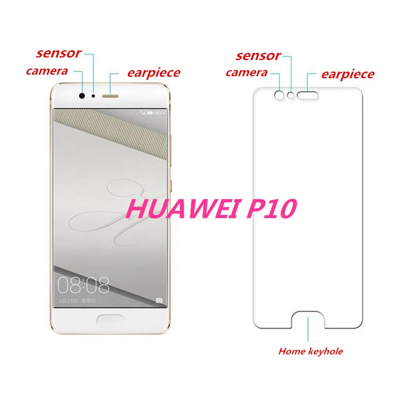 Ultrathin Tempered Glass For Huawei P10 P 10 5 5 inch smartphone anti scratch Screen Toughened Protective Film retail package in Phone Screen Protectors from Cellphones Telecommunications