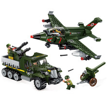 sermoido Building Toy Military Series Air Ground Battle 438Pcs Blocks compatible with legoings Toys & Hobbies