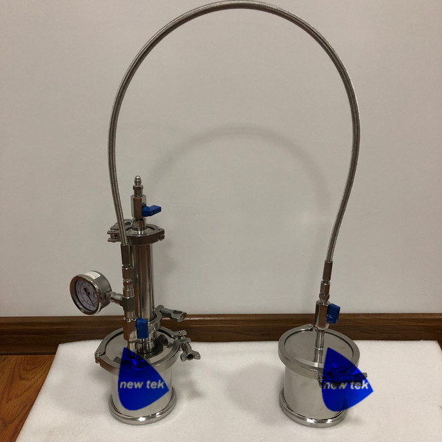 Sanitary 30G-45G TOP FILL CLOSED LOOP BHO EXTRACTOR W/ PRESSURE GAUGE and SHOWER HEAD