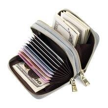 Heißer Verkauf Echtes Leder Unisex Bankkartenhalter Brieftaschen S586 Kreditkarteninhaber Frauen kartenhalter porte carte