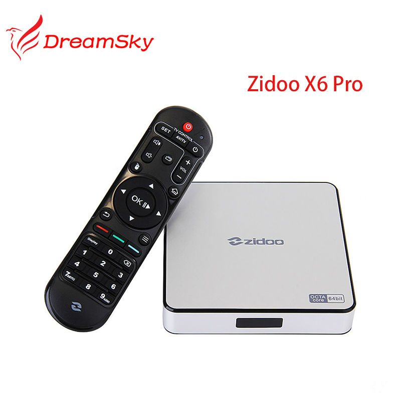 5pcs/lot  RK3368 OctaCore Cortex-A53  Android 5.1 ZIDOO X6 Pro TV Box  support 2G/16G 1000M LAN 4K*2K 3D  KODI Pre-installed смарт тв приставка zidoo x6 pro 2 16 гб с android 5 1 и wi fi