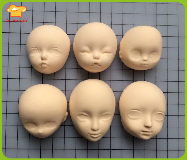 how to make a doll face out of clay