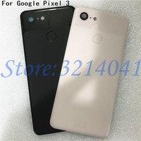 Original 5.5 inches For HTC Google Pixel 3 Glass Back Battery Cover Case+Fingerprint+Glass Lens For Google Pixel 3 Rear Housing