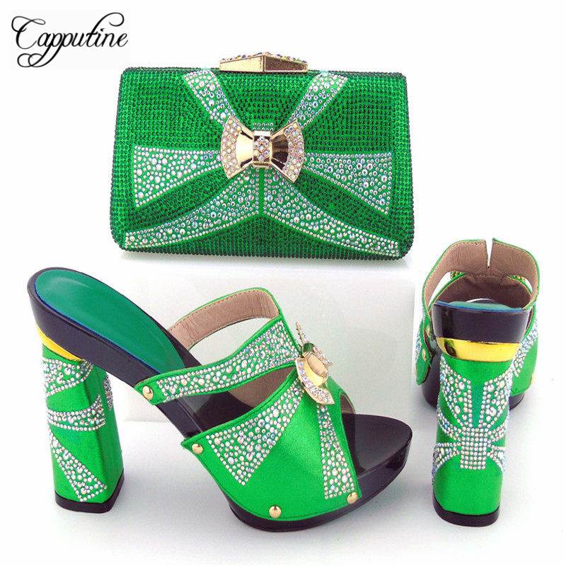 Capputine New Design Italian Shoes With Matching Bag Set Fashion Italy Shoes  And Bag To Match African Women Shoes For Parites cca95535f4c5