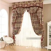 Curtains Fabric Elegant Luxury Blackout CurtainFor Living Room Blinds Jacquard Drapes panels European Window Treatments Panels