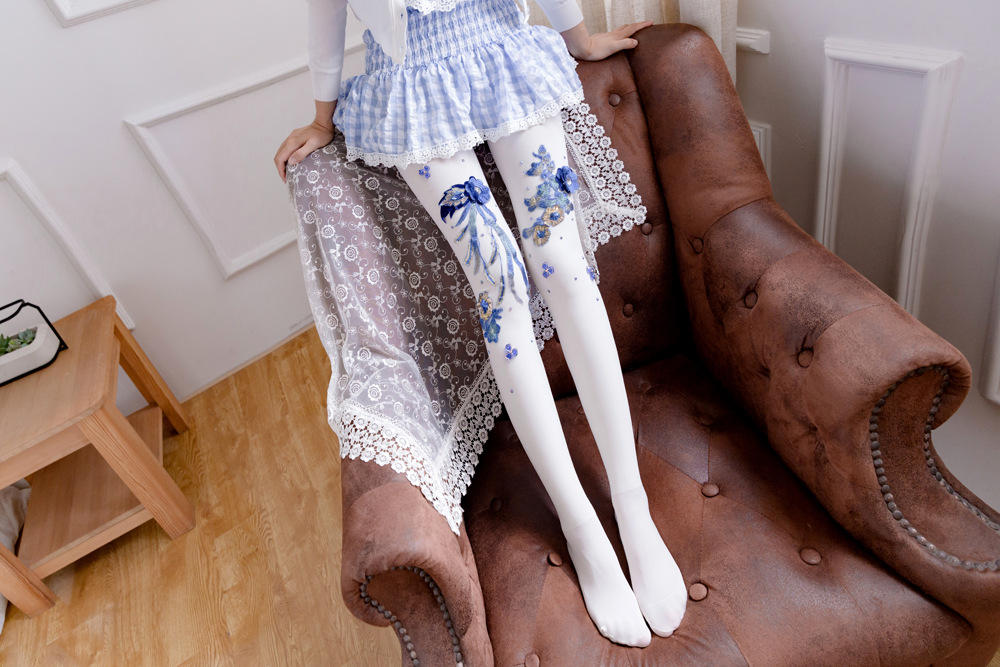 996b7b639a0313 2019 Lolita Blue And White Porcelain Blue And White Embroidery Hand ...