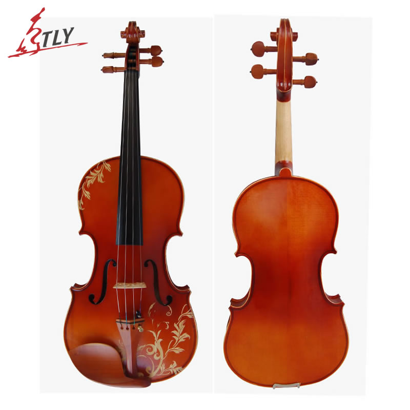 Kinglos Matt Acoustic Art Violin Ebony Fittings Carved Flowers Stuedents Maple Violin 4/4 Violino Fiddle with Case Bow Mute kinglos antique acoustic violin 4 4 beethoven carved maple art violin ebony fittings with shoulder rest case bow rosin bridge