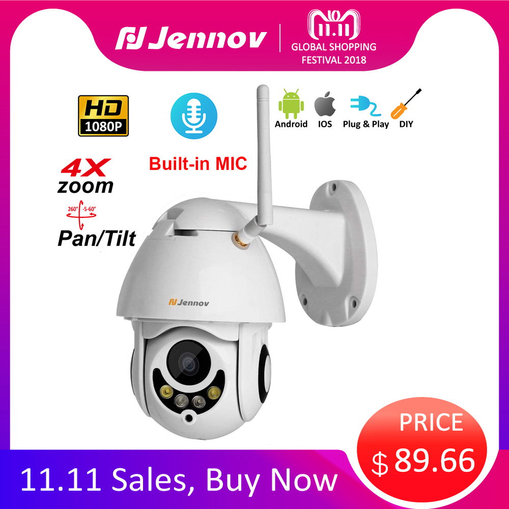 все цены на 1080P Home Security Wireless Wifi PTZ IP Camera 4X Zoom 2.8mm-12mm 2MP Audio Camera HD Vision Outdoor ipCam Video Surveillance онлайн